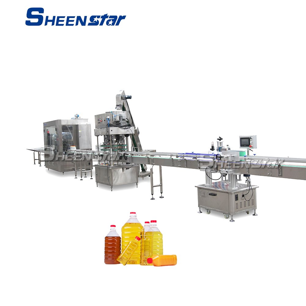Edible Oil Olive Oil Filling Capping Labeling Line